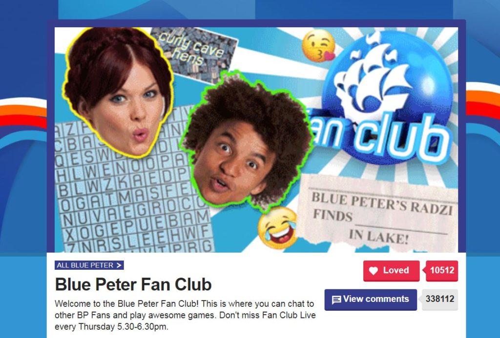Blue Peter fanclub
