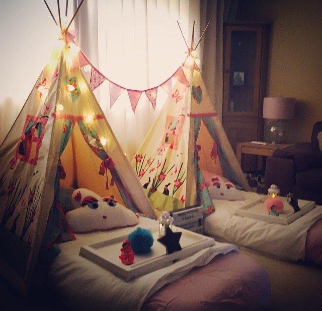 dreamee teepees, dreamee teepee sleepover, slumber parties