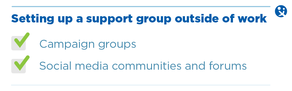 Parental support groups, outside of work