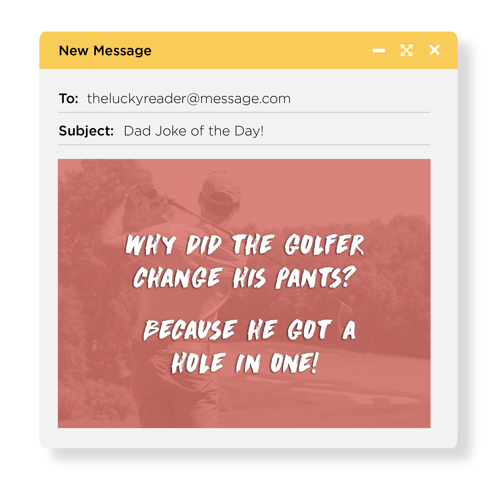 31 days of dad jokes, Dad jokes to your inbox